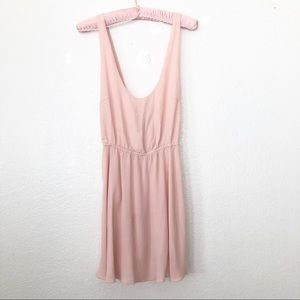 Nasty Gal Baby Pink Mini Strapless Low Back Dress